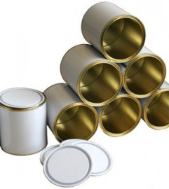 1 Litre (box of 27) White/Lacquer Lever Lid Tin