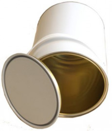 5 Litre (box of 4) White/Lacquer Lever Lid Tin