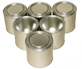 250 ml (box of 252) Plain/Plain Lever Lid Tin