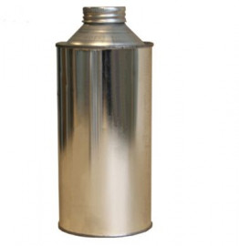 1 Litre Round Cone Top with Cap and Seal- Plain/Plain