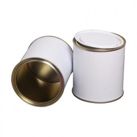 500 ml (box of 30) White/ Laquered Lever Lid Tins